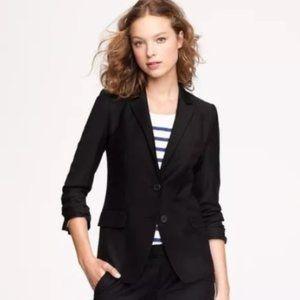J. Crew Two Button Jacket Blazer Black Wool Size 6